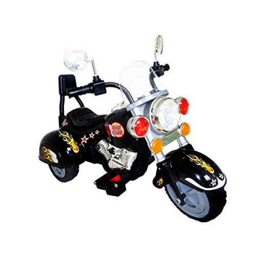 vidaxl kinder motorrad chopper 2 5 km h akku schwarz. Black Bedroom Furniture Sets. Home Design Ideas